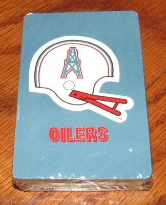 e165bb2be3047 VINTAGE 1969 HOUSTON Oilers NFL Poker Playing Cards - NEW OLD STOCK ...