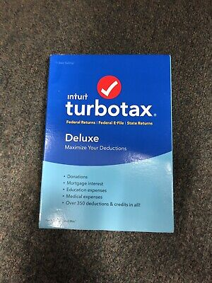 Intuit TurboTax Deluxe 2016 - Federal & State E-file Licenses - Tax Preparation