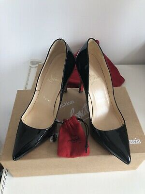new style b40af d0639 CHRISTIAN LOUBOUTIN PIGALLE 100 Black Patent leather 36 ...