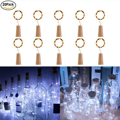 20pcs 20LED String Battery Operated Copper Wine Bottle Fairy Lights Party LD1733
