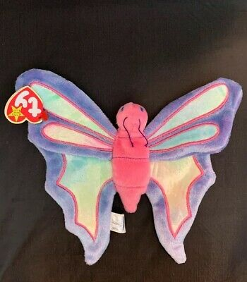 cf599c784c2 Ty Beanie Baby Baby ~ FLITTER the BUTTERFLY ~1999 Retired Plush Collectible
