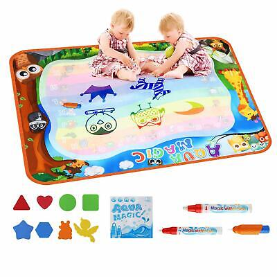 "DuoStar Large Aqua Magic Doodle Mat 31X31/"" Mess Free Educational Water Drawing"