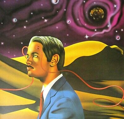 VTG Art Print Canon Lyell Outer Space Sci-Fi Psychic Martian UFO Flying Saucer