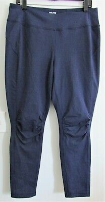 92937c0cbae20 Duluth Trading Co Women's Stretch Athletic NoGA Pants Leggings Navy Blue L  x 33