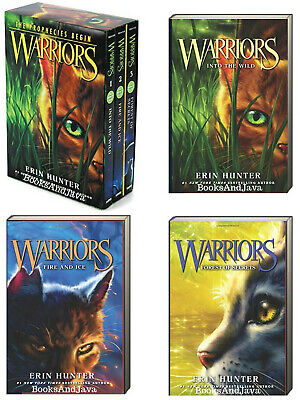 Warriors the Prophecies Begin 1-3 Into the Wild,Fire & Ice Erin Hunter (Box Set)