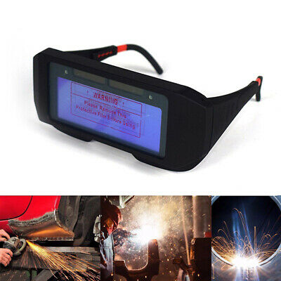 Solar Powered Auto Darkening Welding Mask Helmet Eyes Goggle Welder Glasses