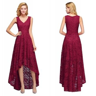 Lace Long Evening Formal Party Dress Prom Ball Gown Bridesmaid Cocktail 1149