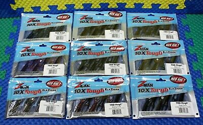 "Z-MAN 10XTough ELAZTECH TRD HogZ Size 3"" Series 6-PK CHOOSE YOUR COLOR!"