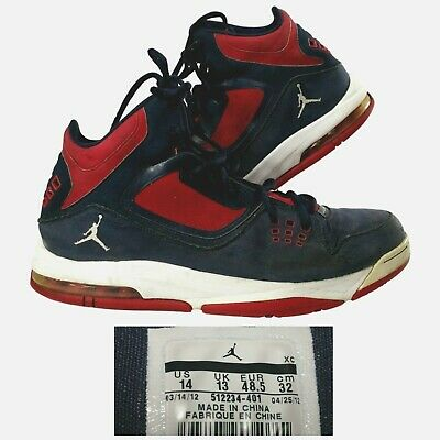 outlet store 78431 52e40 Nike Air Jordan~Men s 14 M~Flight 23 RST Obsidian White Blue Gym Red