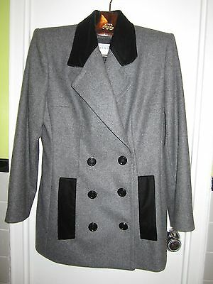 2c231add73f NWT Givenchy Couture FR 46 US 14 Gray Flannel Wool Skirt Suit Coat Jacket  France