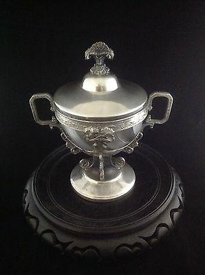 Magnificent Vtg Silverplate Covered Compote/Jar with Glass Insert By Webster Mfg