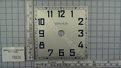 Favre-Bulle Art Deco Square Dial For Electric Pulse Clock