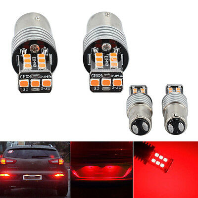 2 X 12v Bay15d 1157 Canbus P21/5w Voiture 15led Frein Tige Feux Stop 2835 Rouge