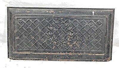 Antique Victorian Style Heating Coal Vent Grate - C. 1890 Architectural Salvage