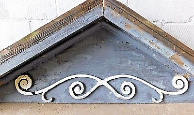 1800's Antique Wooden PORCH GABLE Face VICTORIAN Style Scrolled ORNATE