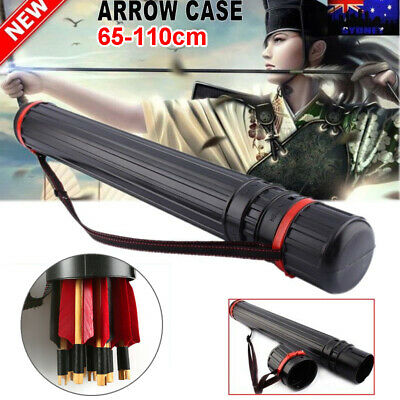 65-110cm Archery Arrow Holders Tube Bag Back Quiver Black Case Hunting Sport