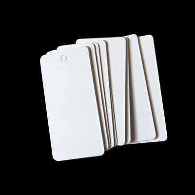 100X Blank Paper Label Price Tags With Elastic Jewelry String 40x20mm DIY Eager