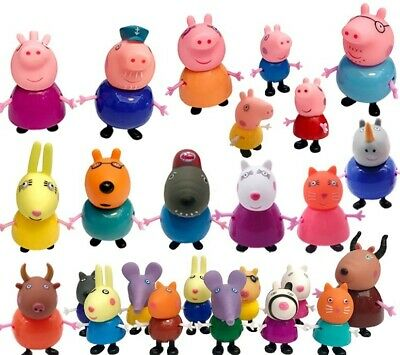 Peppa Pig Family&Friends Emily Rebecca Suzy Action Figures Kids Gift Toys 25Pcs