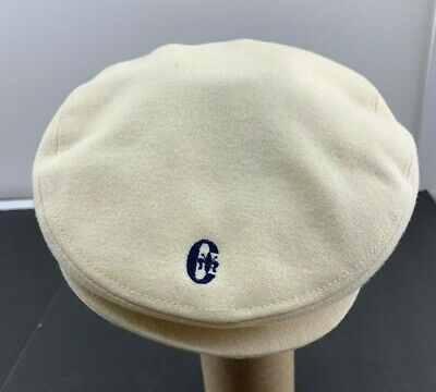 c9148178357 Conte of Florence Mens Wool Cabbie Flat Cap Hat Ear Flaps Cream Made in  Italy
