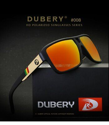 DUBERY Polarized Sunglasses Women&Men Square Cycling Sport Driving Fishing UV400