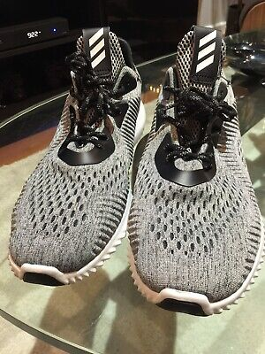 01e4f8a81695c Adidas Alphabounce EM Engineered Mesh Black Grey White Size 13 BB9043