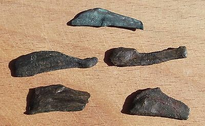 Greek Olbia-Ольвия 5 Old Coins BIG DOLPHIN Дельфин 5th - 3th Century BC #2 RARE