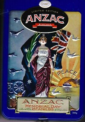 2019 ANZAC BISCUIT TIN - ANZAC MEMORIAL DAY, 25th APRIL 1919 - PEACE - FREE P&H