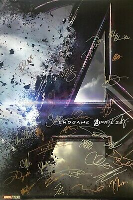 Avengers Endgame 27x40 DS Movie Poster CAST SIGNED x32
