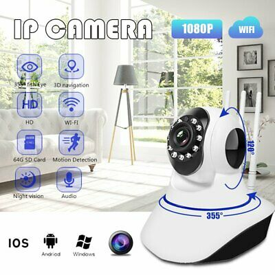 1080P HD Wireless IP Camera Webcam Baby Monitor Security Camera IR Night Vision