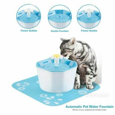 Automatic Electric Pet Cat Dog Water Drinking Fountain Dispenser Feeder Bowl
