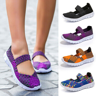Women's Slip-On Light Weight Elastic Trainer Slip On Sports Water Shoes Sneakers