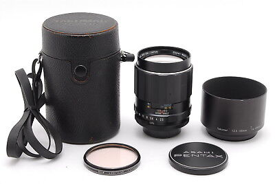 【MINT in Case】PENTAX SMC TAKUMAR 135mm f/2.5 MF Lens for M42 w/Hood From Japan