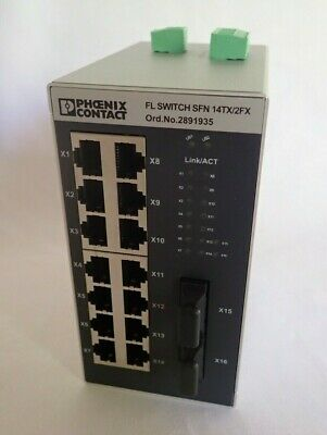 Phoenix Contact 2891935 Fl Switch Sfn 14Tx/2Fx Industrial Ethernet Switch New