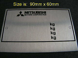 Replacement Vin Plate Identification ID Tag Plate for Mitsubishi + YOUR OWN TEXT