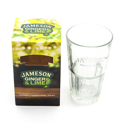 Branded Limited Edition Jameson Irish Whisky Hi Ball Glass + Box Home Bar Pub