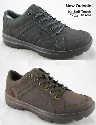 Mens Memory Foam Trainers Walk Pro Black / Brown Lace Up Shoes New UK Sizes 7-12