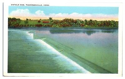 Early 1900s Enfield Dam, Thompsonville, CT Postcard