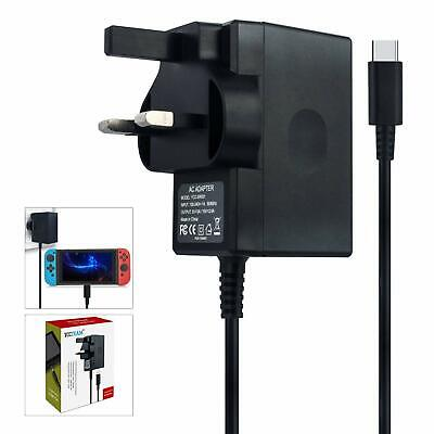 Type C Cable 15V/2.6A Power Supply for Nintendo Switch Supports TV Mode and Dock