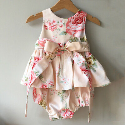 AU Stock Baby Girl Top Tutu Dress Romper Jumpsuit Bodysuit Summer Party Outfits