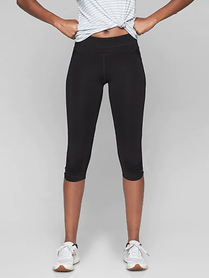 e06042a0c4fb4 Athleta Women's Be Free Knicker Active Crop Leggings in Black Size Small