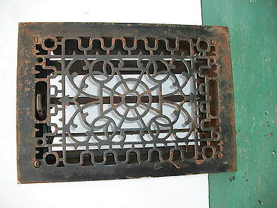 Antique Aafa Primitive Floor Register W Louvers Cast Iron Fancy Old Grate