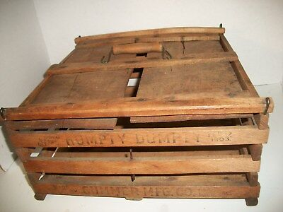 Antique Humpty Dumpty Egg Carrier Wood Slats Aafa Primitive 1903 Box Crate