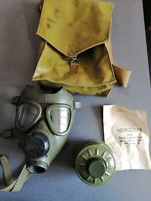 Romanian Vintage Gas Mask with Canvas Bag various sizes