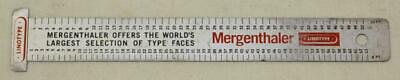 Mergenthaler Linotype Elektron Typesetters Ruler 7-3/4 Inches Long