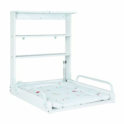 Roba Baby Diaper Changing Table with Mattress Foldable White Practical Novelty