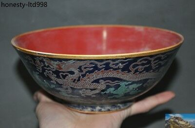 A   Marked Old China Dynasty Wucai porcelain glaze Dragon pattern bowl Cup bowls