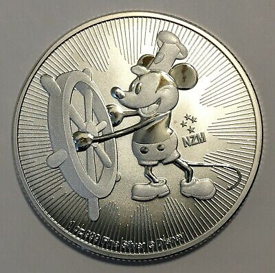 2017 1 oz Silver Mickey Mouse Steamboat Willie Coin - Free Shipping !!