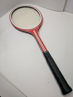 Vintage 1970's YAMAHA COMPOSITE RED WHITE YCR126 TENNIS RACQUET 4 3/8""