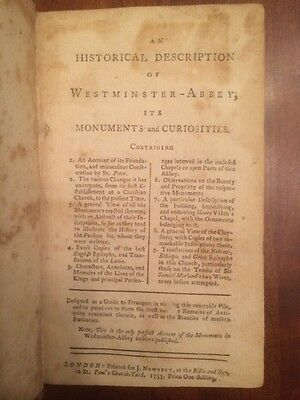 RARE 1753 Historical Westminster-Abbey, Monuments, Curiosities, LONDON St. Peter