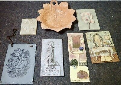 assortment of ceramic & slate relief wall pictures modern 3-D decorative tiles